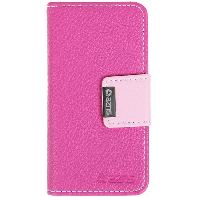 AZNS PU Leather and Plastic Wallet Flip Case for iPhone 5