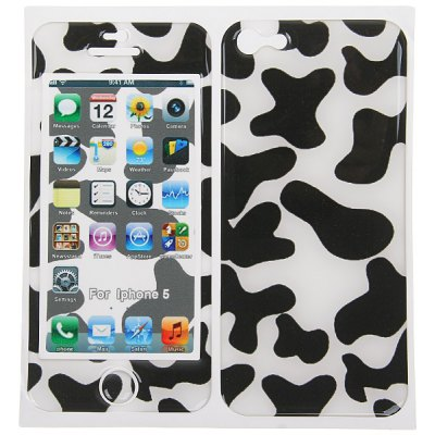 Spots 3D Cushion Front and Back Skin for iPhone 5