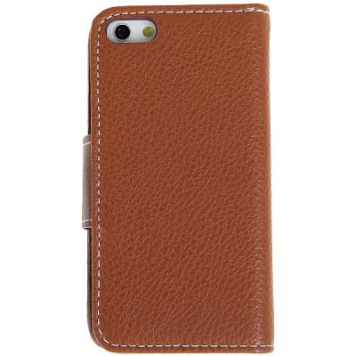 AZNS Fashion Style PU Leather + PC Wallet Case with Card Slot for iPhone 5