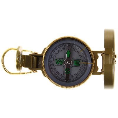 Portable Outdoor Compass with Metal Material for Hiking Camping  -  Golden