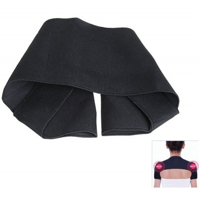 Far-infared and Magnetic Therapy Function Self-heating Shoulder Pad Belt for Shoulder - Black