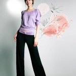 Korean Style Ladies XL Size Sports Suit Loose Clothes and Pants for Dancing and Yoga - Purple and Black