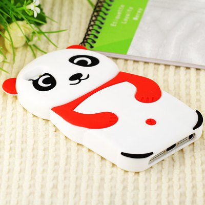 Popular Bear Shape Soft Silicone Case Cover for iPhone 5 - Red