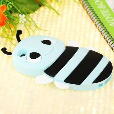 Гаджет   Cool Style Little Bee Silicone Shell Case for iPhone 4 / 4S iPhone Cases/Covers
