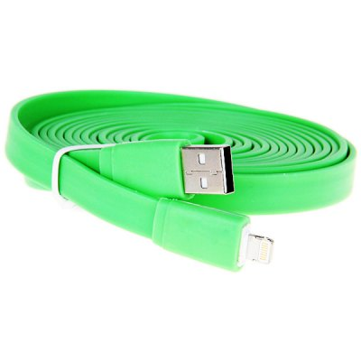ФОТО Special Design US Power Charger + 3M Noodle Style Flat USB Cable + Car Charger for iPhone 5