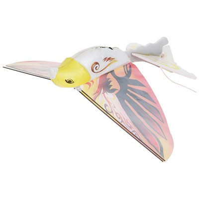 Fun Flying E-Bird Outdoor Hunting Toy with Infrared Gun and Remote Controller - Orange