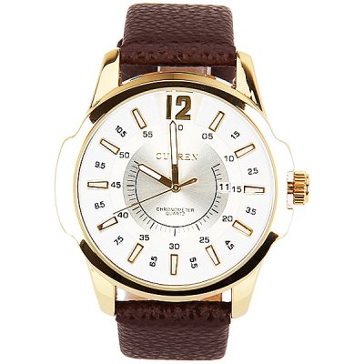 Curren Mens Watch Quartz Round Dial Leather WatchbandMens Watches<br>Curren Mens Watch Quartz Round Dial Leather Watchband<br><br>Band material: Leather<br>Brand: Curren<br>Clasp type: Buckle<br>Movement type: Quartz watch<br>Package Contents: 1 x Watch<br>Package size (L x W x H): 27.1 x 5.8 x 2 cm<br>Package weight: 0.11 kg<br>Product size (L x W x H): 26.1 x 4.8 x 1 cm<br>Product weight: 0.06 kg<br>Shape of the dial: Round<br>Special features: Calendar<br>Style elements: Big dial<br>The dial diameter: 4.8 cm<br>The dial thickness: 1 cm<br>Watch style: Fashion<br>Watches categories: Male table