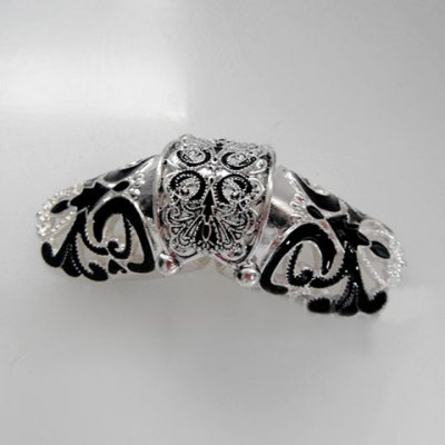 Retro Style Fashion Long Design Metal Knuckle Ring For Women