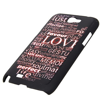 Fashion Style Relievo Series Letters PC Shell Case for Samsung Galaxy Note 2 N7100