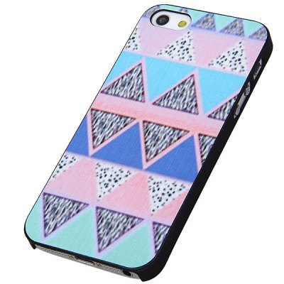 Superb Embossment Triangle Style PC Shell Case for iPhone 5