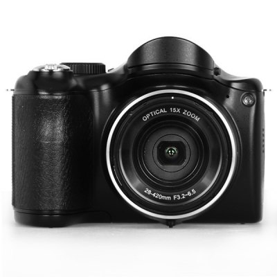 3.0 inch 16.0MP Digital Camera 15X Optical Zoom 720P Video Recording Super Macro DSLR Digital CameraDigital Camera<br>3.0 inch 16.0MP Digital Camera 15X Optical Zoom 720P Video Recording Super Macro DSLR Digital Camera<br><br>Language: English,French,German,Chinese<br>Special performance: Face Detection,Smile Capture,Continue Shot<br>Battery Type: AA<br>Battery Capacity: 4 x AA battery (not included)<br>Video Resolution: 1280 x 720<br>Lens type: Periscopic<br>Scene: Kids,Scenery,Food,Snow,Fireworks,Blink detect,Backlight<br>White Balance: Auto,Fluorescent,Cloudy,Daylight,Tungsten,Custom<br>Exposure Compensation: -2EV,+2EV<br>File format: AVI,MOV<br>Interface: SD Card Slot,USB 2.0 interface<br>Pixel: &gt;1300w<br>Display size (inch): 3<br>Screen type: Normal screen<br>Image resolutions: 640 x 480 (VGA),4416 x 3312 (14MP),4000 x 3000 (12MP),3648 x 2736 (10MP),3264 x 2448 (8MP),2592 x 1944 (5MP),2048 x 1536 (3MP),1600 x 1200 (2MP),4608 x 3456 (16M)<br>Memory support : SD card<br>External memory storage(Maximum, not included): SD card up to 32GB<br>Product weight: 0.350 kg<br>Package weight: 0.950 kg<br>Package size (L x W x H): 18.00 x 18.00 x 12.00 cm / 7.09 x 7.09 x 4.72 inches<br>Package Contents: 1 x 16.0MP Digital Camera