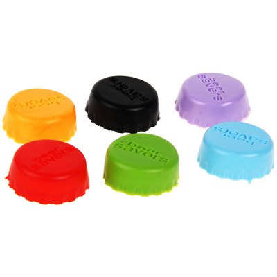 6PCS Silicone Beer Saver Bottle Cap