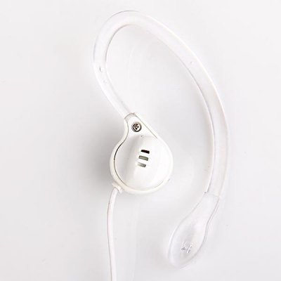 Portable 3.5mm Jack Ear Hook Earphone for MP3/MP4/MP5 (White)