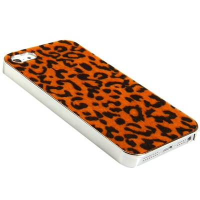 Гаджет   Fashion Fluff and Leopard Print Style Electroplating Plastic Shell Case for iPhone 5 iPhone Cases/Covers