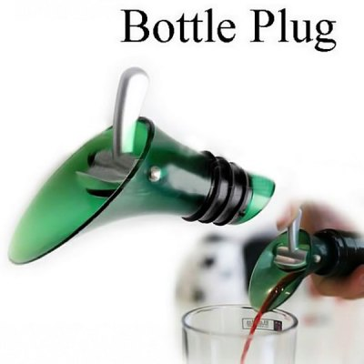 Silicone Red Wine Aerator Bottle Plug Funnel Stopper
