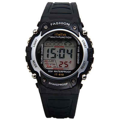 Гаджет   LED Sport Waterproof Watch with Round Dial and Rubber Band Sports Watches