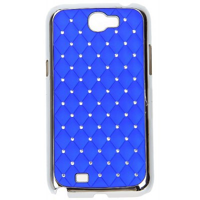 Diamonds Electroplating Style Plastic Material Hard Case for Samsung Galaxy Note 2 N7100