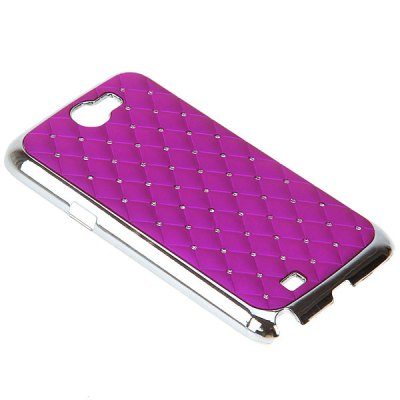 ФОТО Diamonds Electroplating Style Plastic Material Hard Case for Samsung Galaxy Note 2 N7100