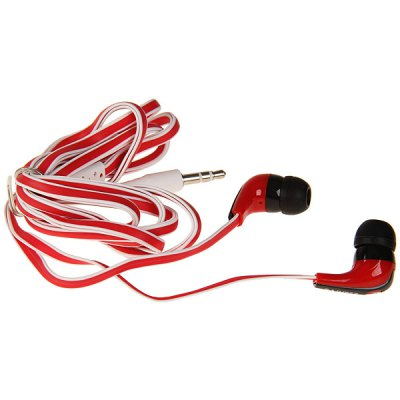 FG-EA05MP In-ear Type Stereo Headphone Noodle Line 3.5mm Earphone - Red