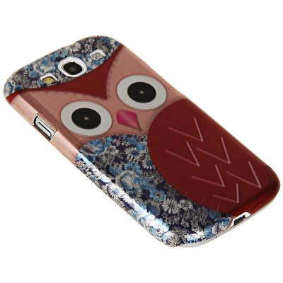 Owl Floral Pattern Plastic Protective Case Cover for Samsung Galaxy S3 i9300