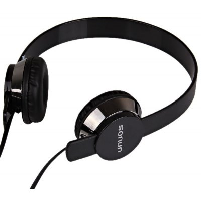 New SN-U1 Professional Stereo Headphone with Microphone (Black + Sliver)