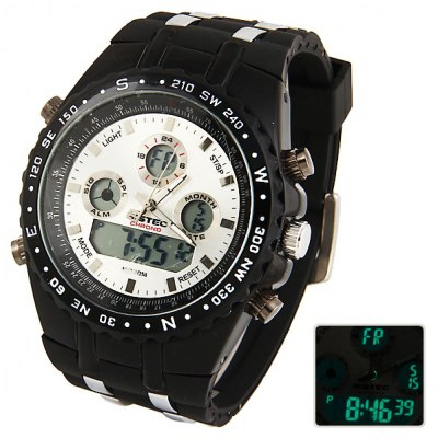 Bistec Unisex Waterproof Silicon Double Movt LED Watches