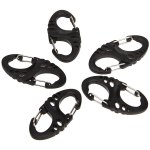 5PCS 8 Shape Plastic Carabiner Quick Hang Buckle for Outdoor Climbing Camping Hiking Travel etc.