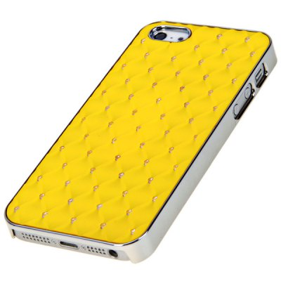 Гаджет   Fashion Rhombus Style Rhinestone Hard Shell Case for iPhone 5