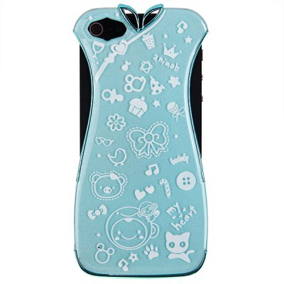 Cheongsam Electroplating Plastic Case for iPhone 5