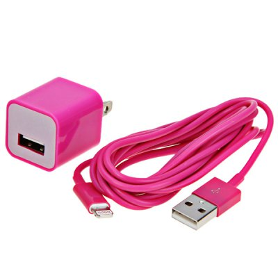 ФОТО Cool Design US Standard Power Charger + 2M 8 Pin Cable for iPhone 5 / 5C / 5S
