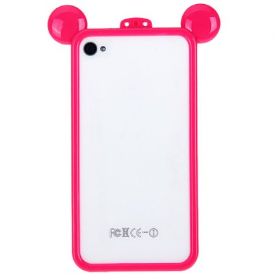 ФОТО Cool Frog Prince Style Plastic Bumper Frame for iPhone 4 / 4S