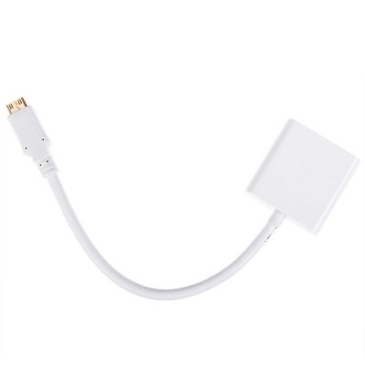 new-active-vga-female-15-pins-to-mini-hdmi-male-video-converter-adapter-cable-white