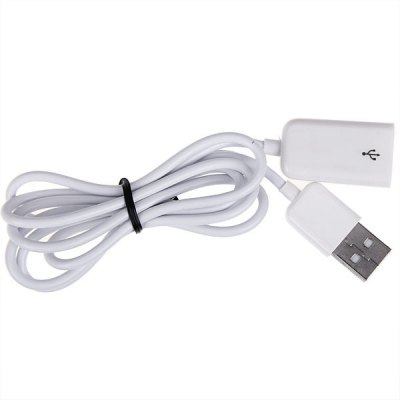 Compact USB2.0 Male to Female Extension Cable 1M - White