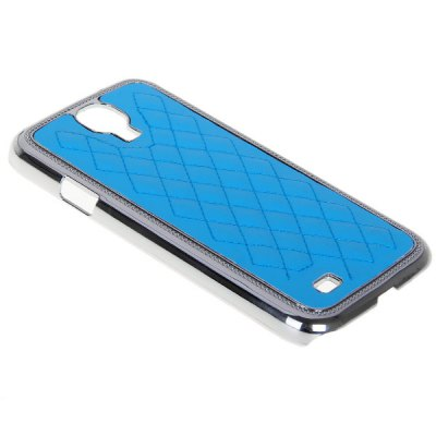 Rhombus Pattern Electroplating Plastic Case for Samsung S4 i9500 / i9505