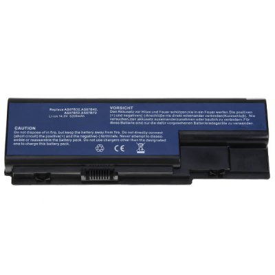 AS07B32 High Capacity 5200mAh 14.8V Replacement Laptop Battery for Acer Aspire 5310, 5315, 5520, 5520G, 5710, 5720, 5920, 5920G, 6530, 6920 - Black от GearBest.com INT