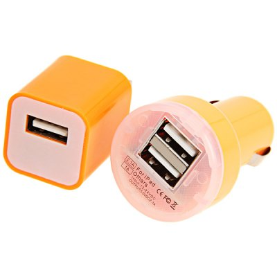 ФОТО Cool Design Power Charger + 1M USB Cable + Double USB Ports Car Charger for iPhone 5