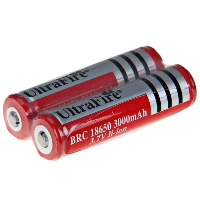 Гаджет   UltraFire 18650 Li - ion Rechargeable Battery (3.7V, 3000mAh, 2 - Pack, with Protection Board) Batteries