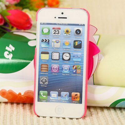 Гаджет   Unique Apple Style Diamonds Clear Plastic Shell Case for iPhone 5 with Mirror iPhone Cases/Covers