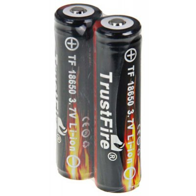 TrustFire 18650 Li - ion Rechargeable Battery without Protection Board (3.7V, 2400mAh, 2 - Pack)