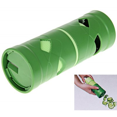 New Easy Garnish Veggie Twister Fruit/Vegetable Cutter Slicer peeler Utensil - Green