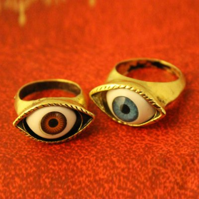 Eye-Shaped Decorated Ring