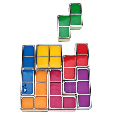 Colorful Stackable Tetris Shaped Lighting Device - Multicolour