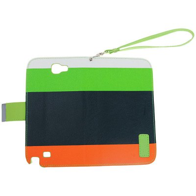 PU Leather Wallet Case with Flip - Open Stand Design for Samsung Galaxy Note II N7100