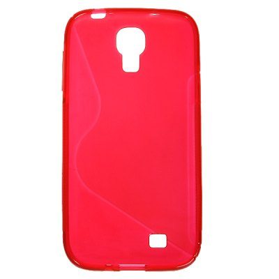 S - curve Style Soft TPU Protective Case Cover for Samsung Galaxy S4 i9500 / i9505