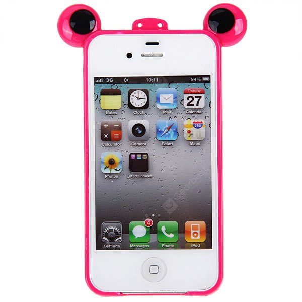 Cool Frog Prince Style Plastic Bumper Frame for iPhone 4-4S