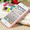 best Unique Rabbit Style Rhinestones Clear Plastic Shell Case for iPhone 5 with Mirror