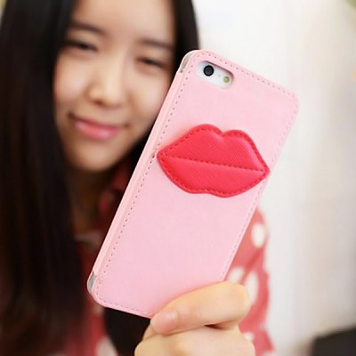 8thdays Monroe's Kiss Vertical PU Leather Case for iPhone 5