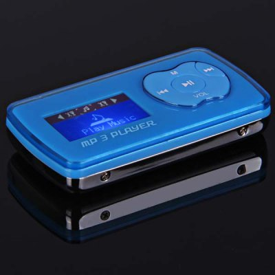 LCD Screen TF/Micro SD Card Loudspeaker Digital MP3 Player - Blue