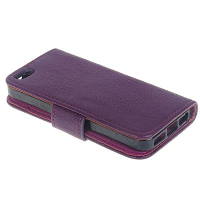 Гаджет   Fashion Flip Wallet Style Lychee TPU + PU Leather Stand Case for iPhone 5 iPhone Cases/Covers