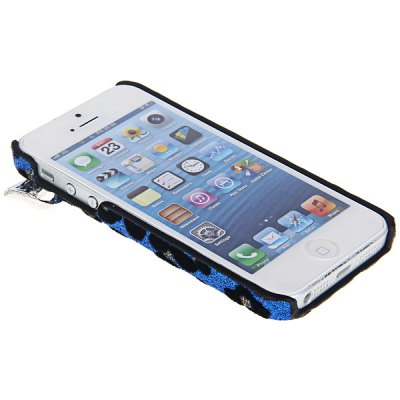 Гаджет   Fashion Butterfly and Leopard Design Artificial Pearl Plastic Hard Shell Case for iPhone 5